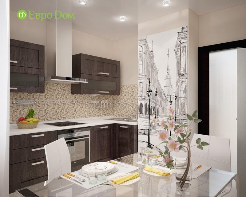 Контрастное решение панельной двухкомнатной квартиры 60 кв. м