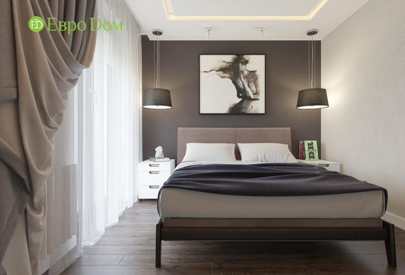 Дизайн-проект спальни двухкомнатной квартиры 50 кв. м в современном стиле.