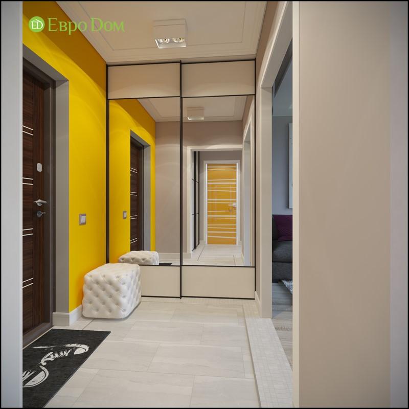 Дизайн-проект прихожей панельной двухкомнатной квартиры 50 кв. м в современном стиле.