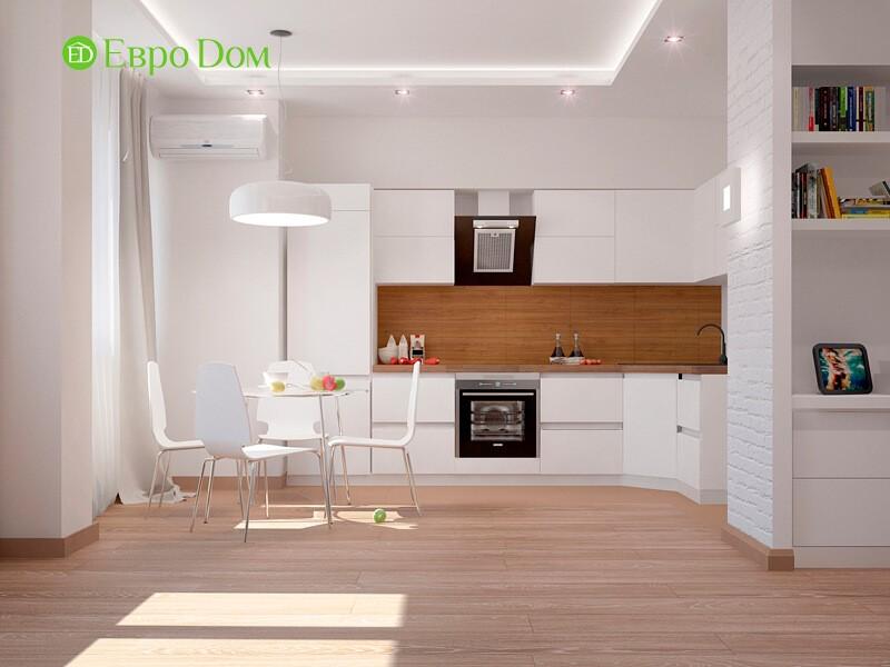 Кухня однокомнатной квартиры-студии 47 кв. м