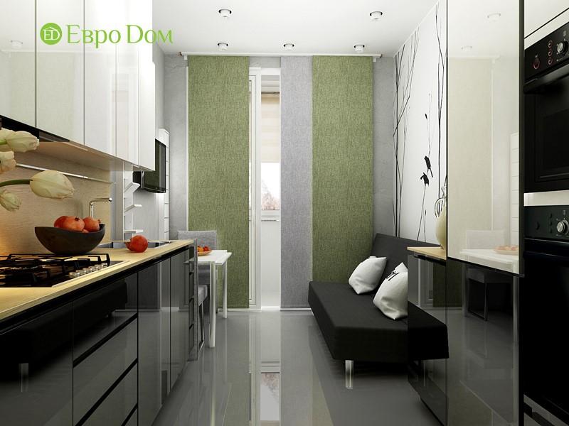 Дизайн маленькой квартиры-студии 43 кв. м. Кухня-столовая
