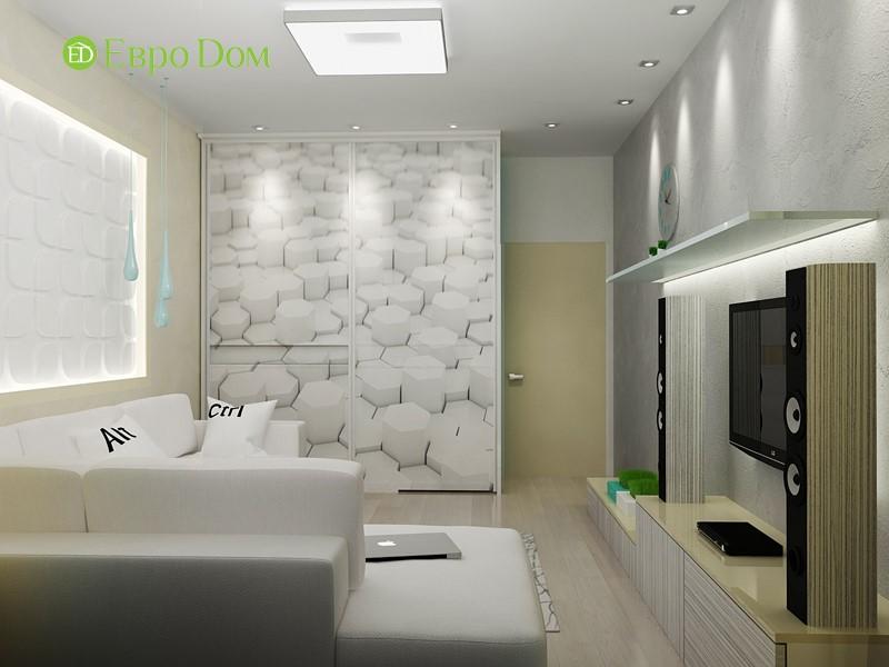 Дизайн маленькой квартиры-студии 43 кв. м. Спальня