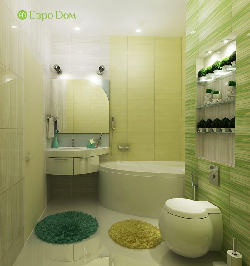 Дизайн маленькой квартиры-студии 43 кв. м. Ванная комната