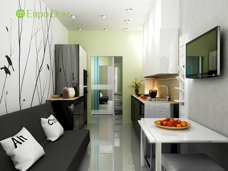 Дизайн-проект маленькой квартиры-студии. 3D-визуализация интерьера