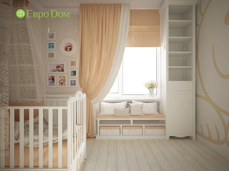 Дизайн-проект панельной трехкомнатной квартиры в стиле неоклассика. Интерьер детской комнаты