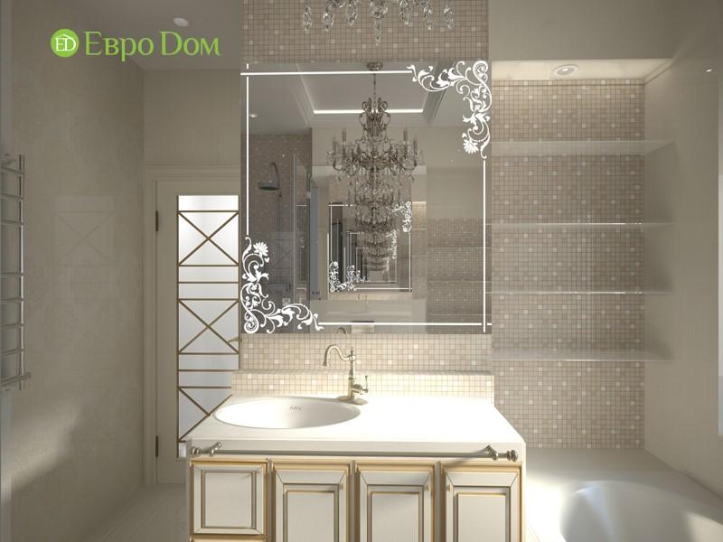 Дизайн-проект панельной трехкомнатной квартиры в стиле неоклассика. Интерьер ванной комнаты