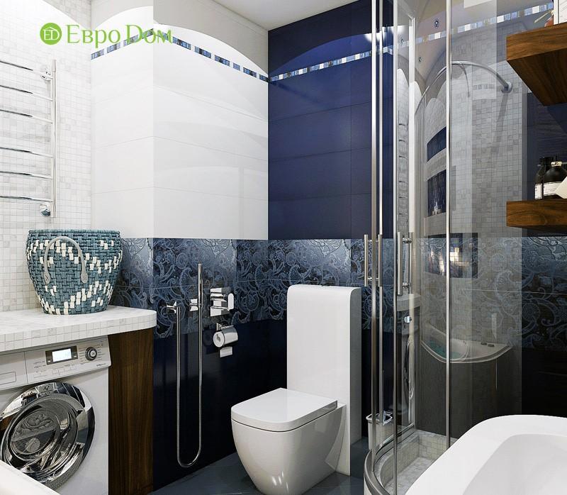 Дизайн-проект современной трехкомнатной квартиры в стиле Тиффани. Интерьер ванной комнаты