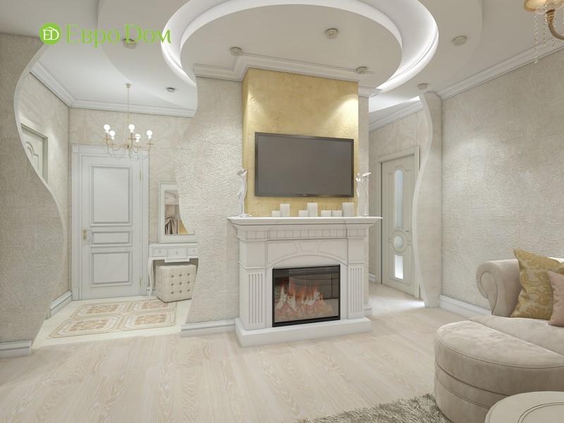 Дизайн трехкомнатной квартиры в классическом стиле. Интерьер гостиной