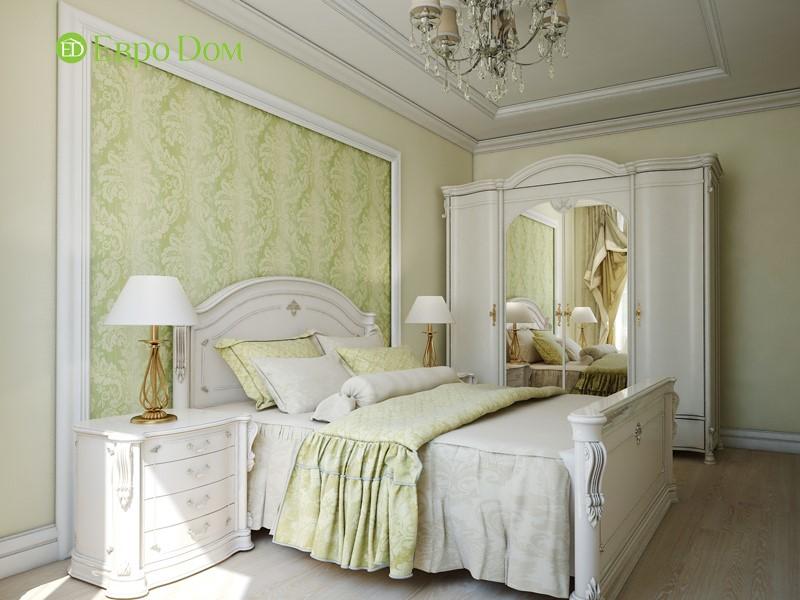 Дизайн трехкомнатной квартиры в классическом стиле. Интерьер спальни