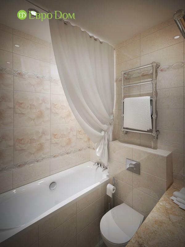 Дизайн трехкомнатной квартиры в классическом стиле. Интерьер ванной комнаты