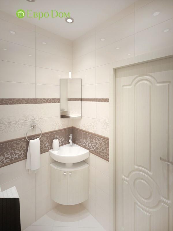 Дизайн трехкомнатной квартиры в классическом стиле. Интерьер гостевого санузла