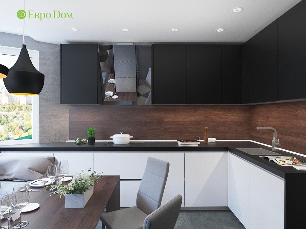 Дизайн ремонта двухкомнатной квартиры 69 кв. м в современном стиле. Кухня