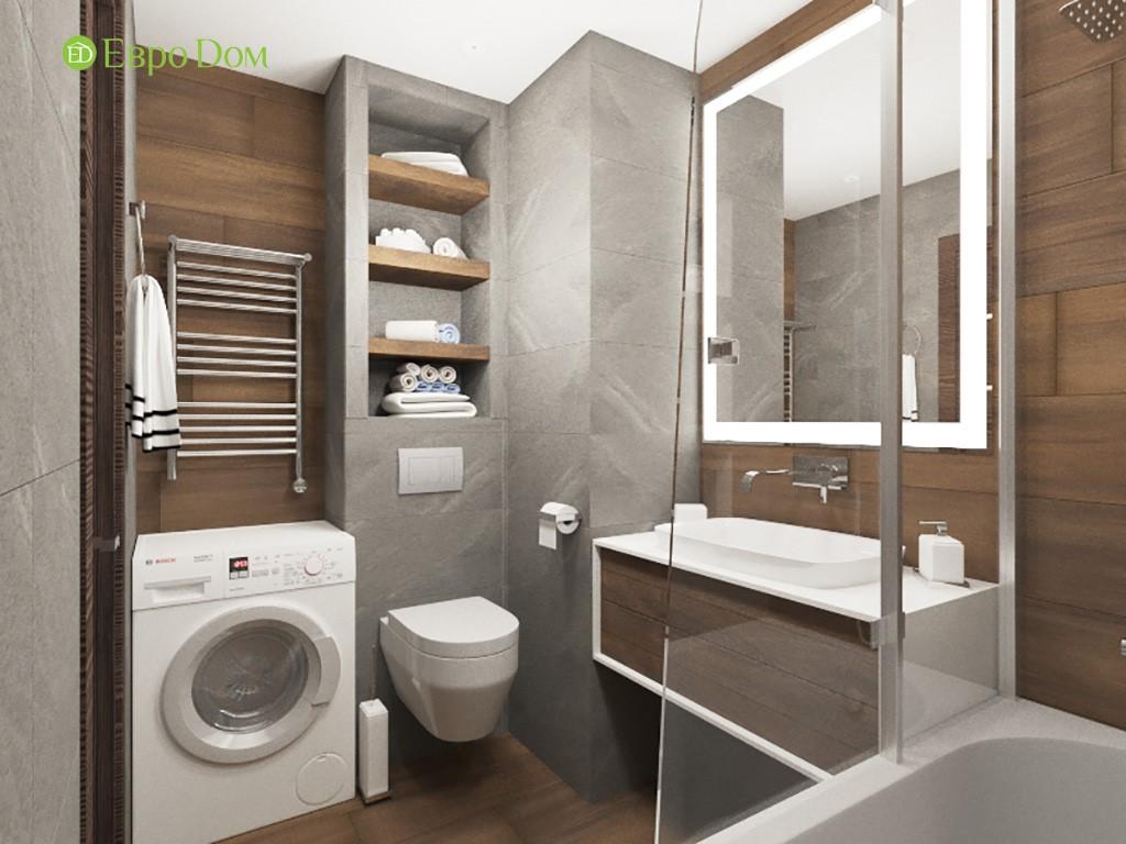 Дизайн ремонта двухкомнатной квартиры 69 кв. м в современном стиле. Ванная комната