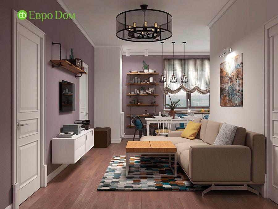 Дизайн-проект ремонта двухкомнатной квартиры 70 кв. м в стиле прованс. Интерьер гостиной