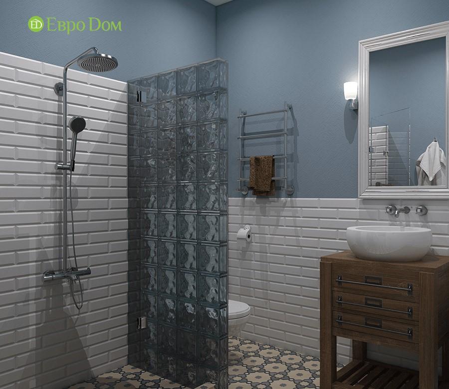 Дизайн-проект ремонта двухкомнатной квартиры 70 кв. м в стиле прованс. Ванная комната