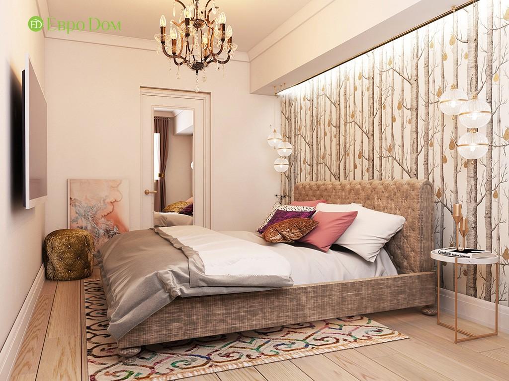 Дизайн ремонта двухкомнатной квартиры 46 кв. м в стиле арт-деко. Спальня