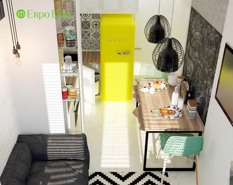 Дизайн для ремонта маленькой однокомнатной квартиры 35 кв. м в стиле лофт. кухня