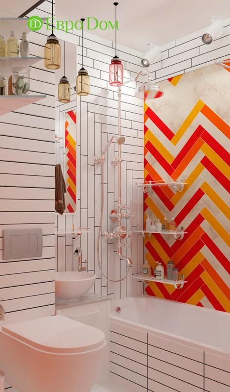 Дизайн для ремонта маленькой однокомнатной квартиры 35 кв. м в стиле лофт. Ванная комната