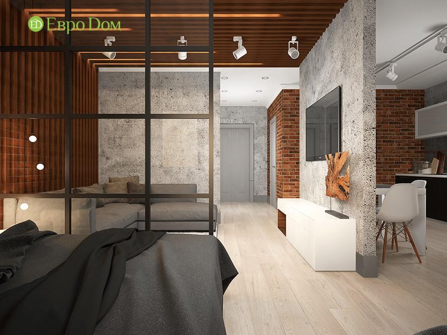 Дизайн-проект ремонта однокомнатной квартиры 49 кв. м в современном стиле