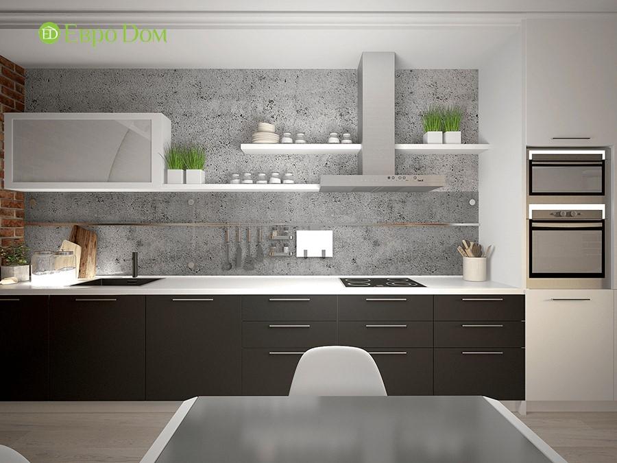 Дизайн-проект ремонта однокомнатной квартиры 49 кв. м в современном стиле. Кухня