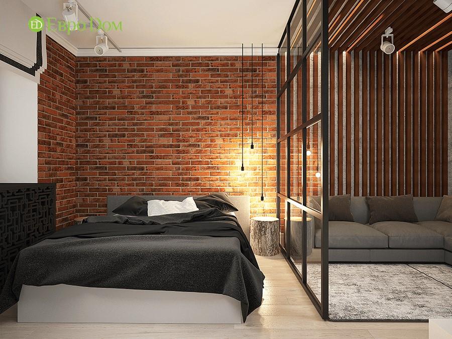 Дизайн-проект ремонта однокомнатной квартиры 49 кв. м в современном стиле. Спальня