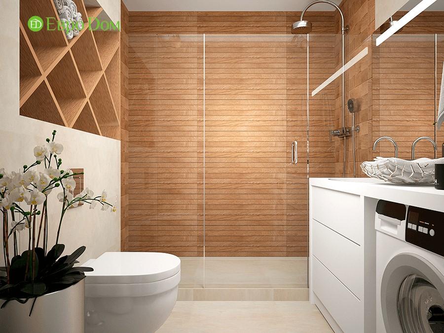 Дизайн-проект ремонта однокомнатной квартиры 49 кв. м в современном стиле. Ванная комната