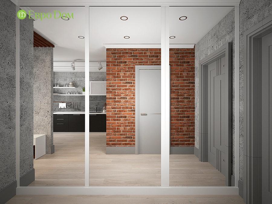 Дизайн-проект ремонта однокомнатной квартиры 49 кв. м в современном стиле. Прихожая