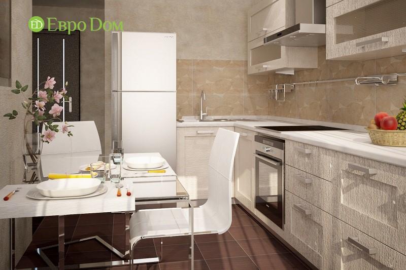 Дизайн-проект ремонта однокомнатной квартиры 35 кв. м в современном стиле. Кухня