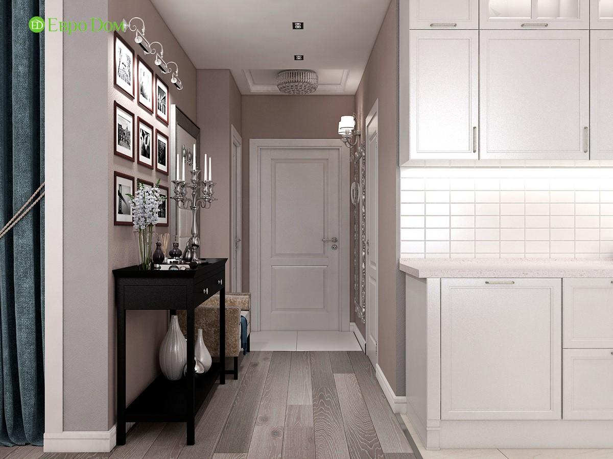 Дизайн для ремонта однокомнатной квартиры 44 кв. м в стиле неоклассика. Прихожая