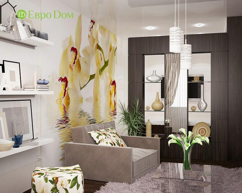 Небольшая спальная зона в однокомнатной квартире 34,7 кв. м
