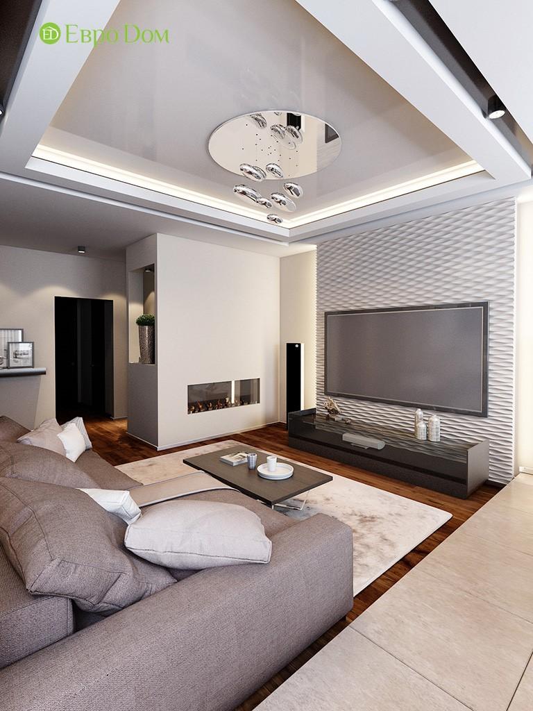 Дизайн трехкомнатной квартиры 86 кв. м в современном стиле