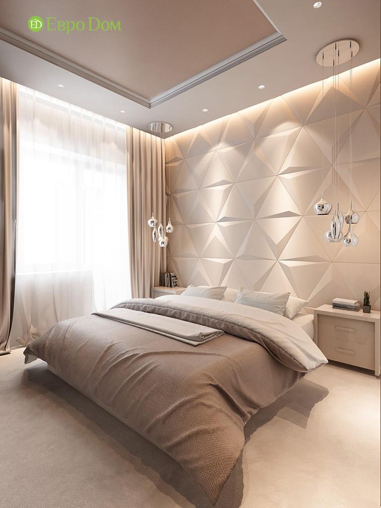 Спальня в современной 3-комнатной квартире