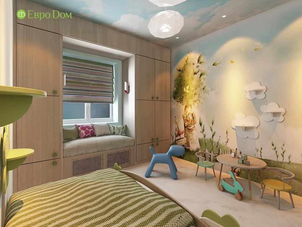 Встроенная мебель в интерьере современной детской