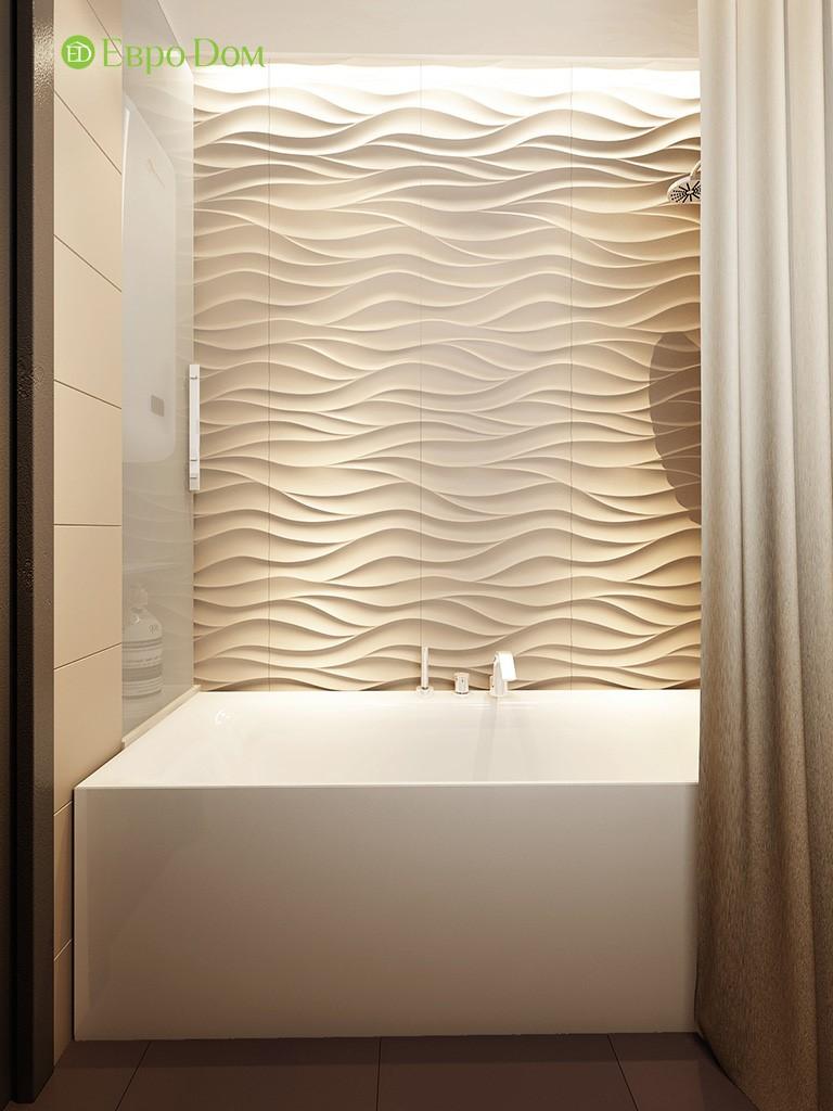 Современное оформление стен в ванной 3-комнатной квартиры