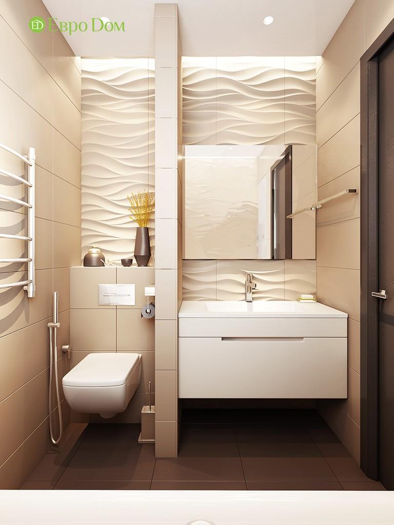 дизайн интерьера совмещённого санузла, оформленного в современном стиле