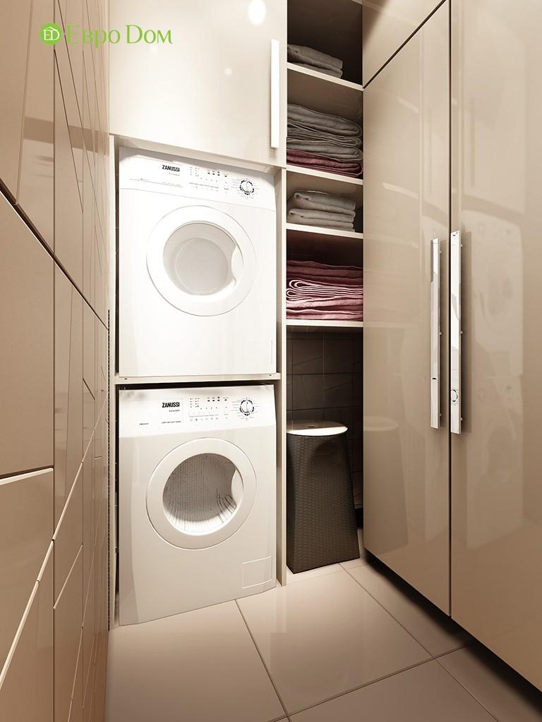 современный дизайн прачечной в трехкомнатной квартире