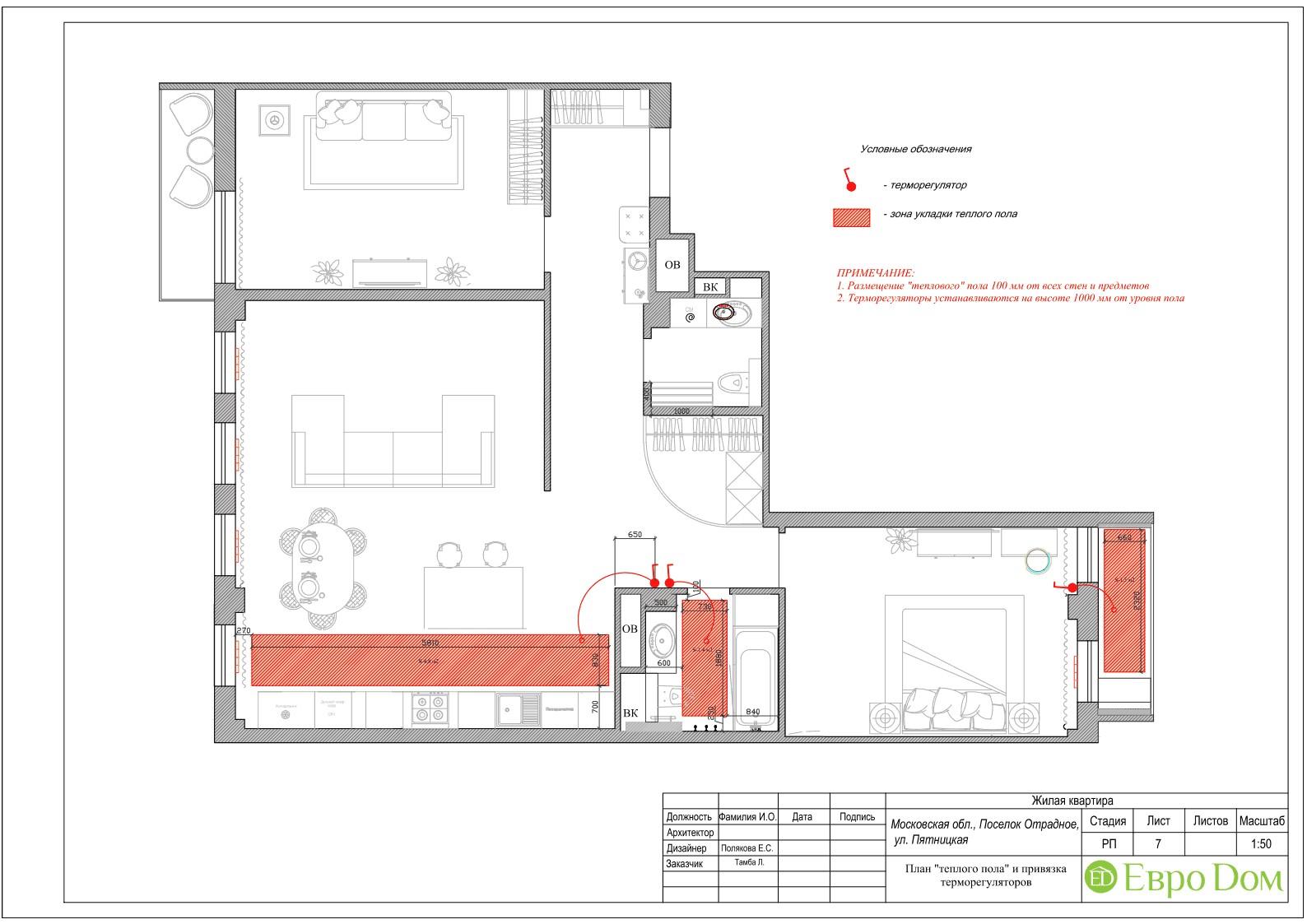 Расположение мебели в интерьере современной трехкомнатной квартиры