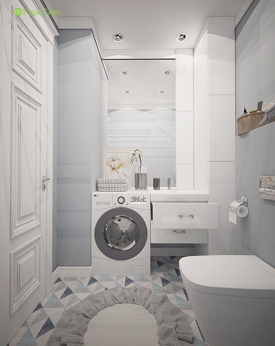 Современный дизайн санузла в трехкомнатной квартире