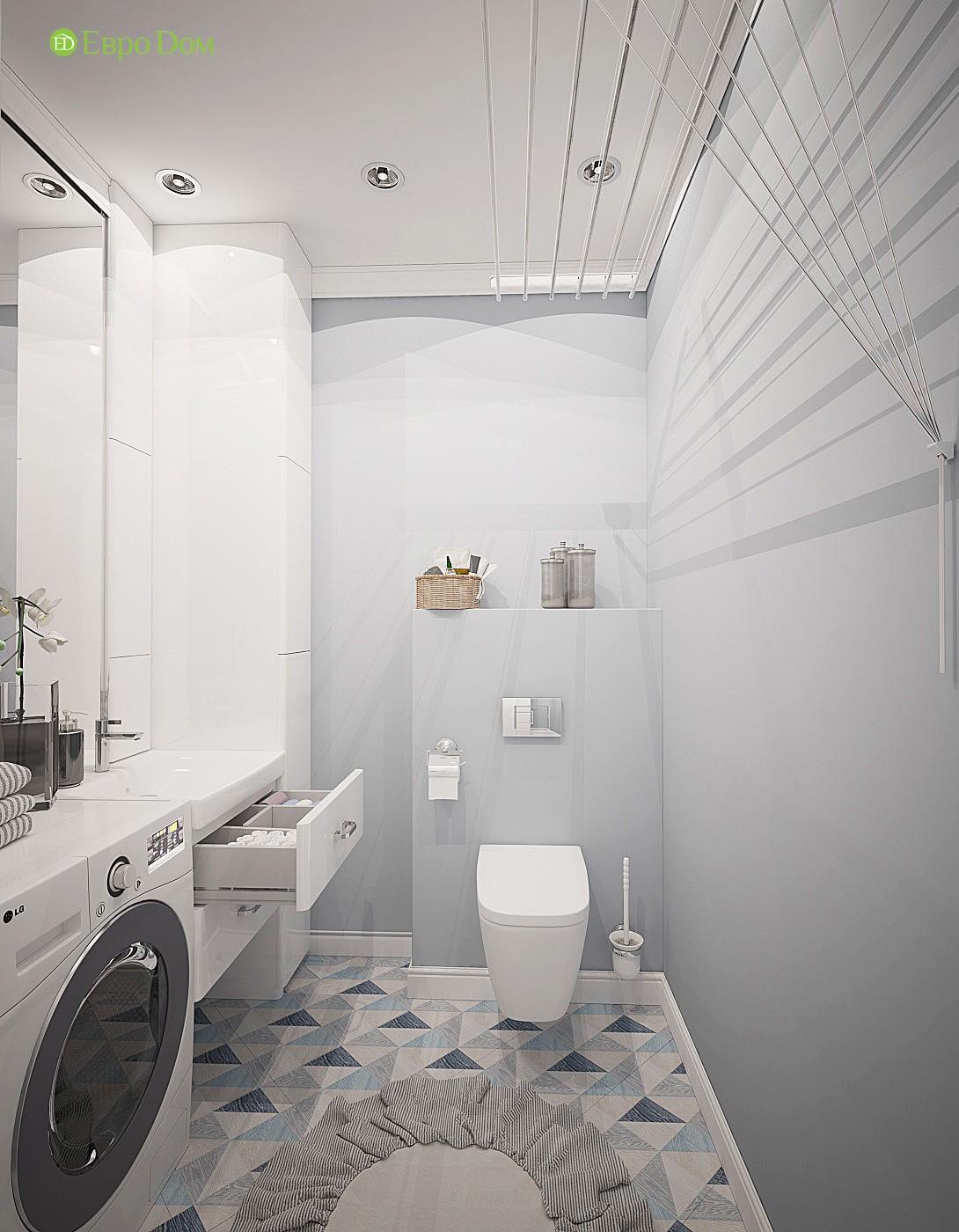 дизайн трехкомнатной квартиры в современном стиле; санузел