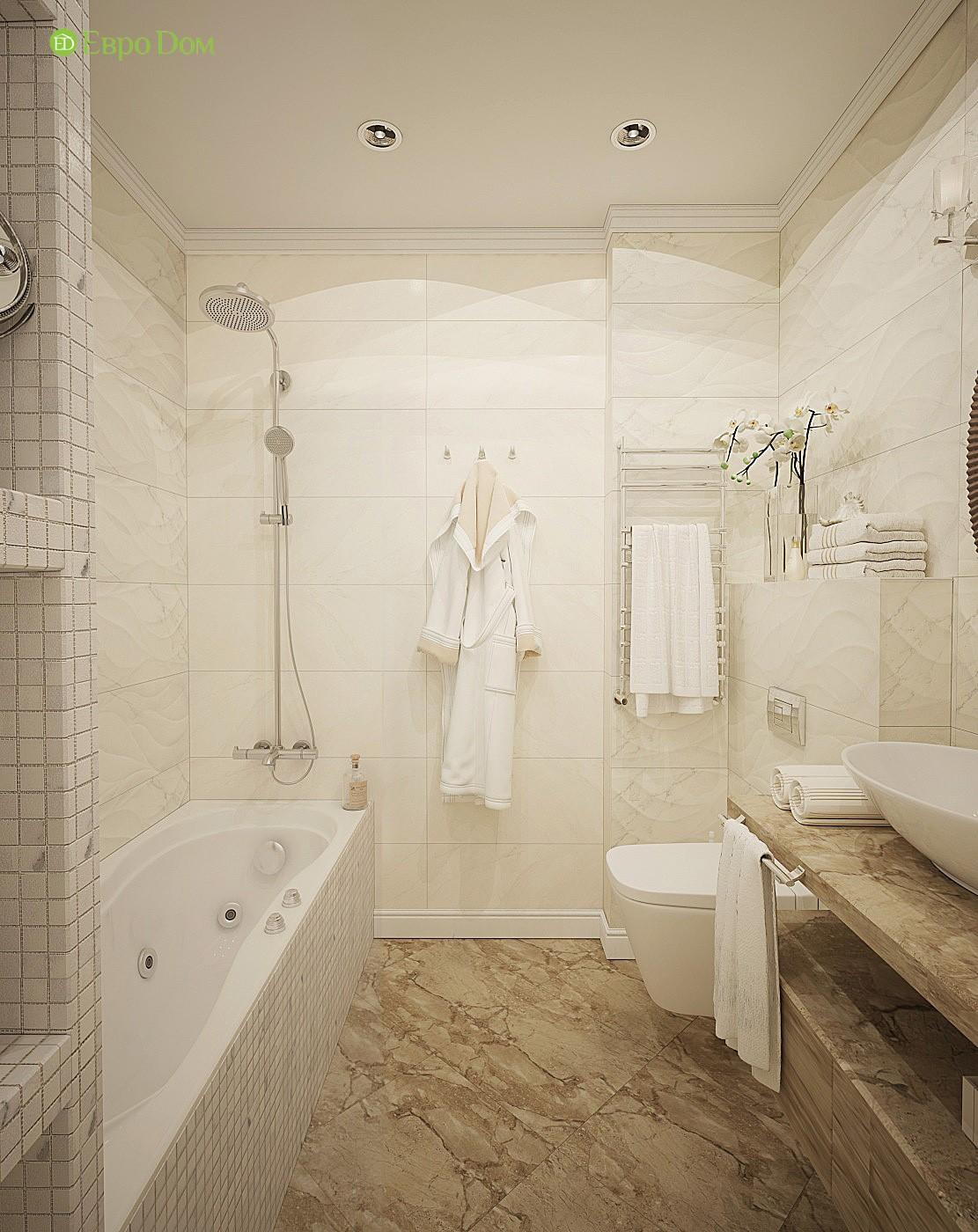Ванна в современном дизайне трехкомнатной квартиры