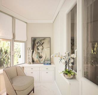 Дизайн трехкомнатной квартиры 81 кв. м в стиле неоклассика. Фото проекта