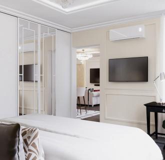 Дизайн двухкомнатной квартиры 68 кв. м в стиле ар-деко. Фото проекта