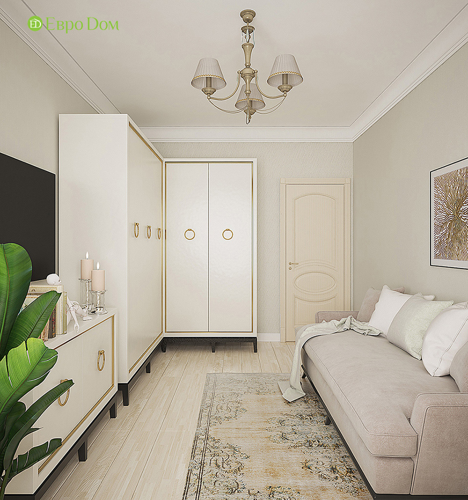 На фото: дизайн интерьера гостиной в стиле неоклассика