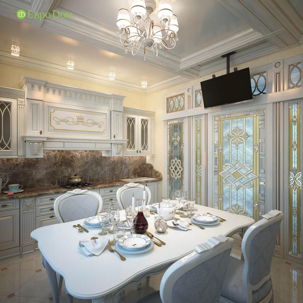 Дизайн частного дома внутри. Фото кухни в стиле барокко