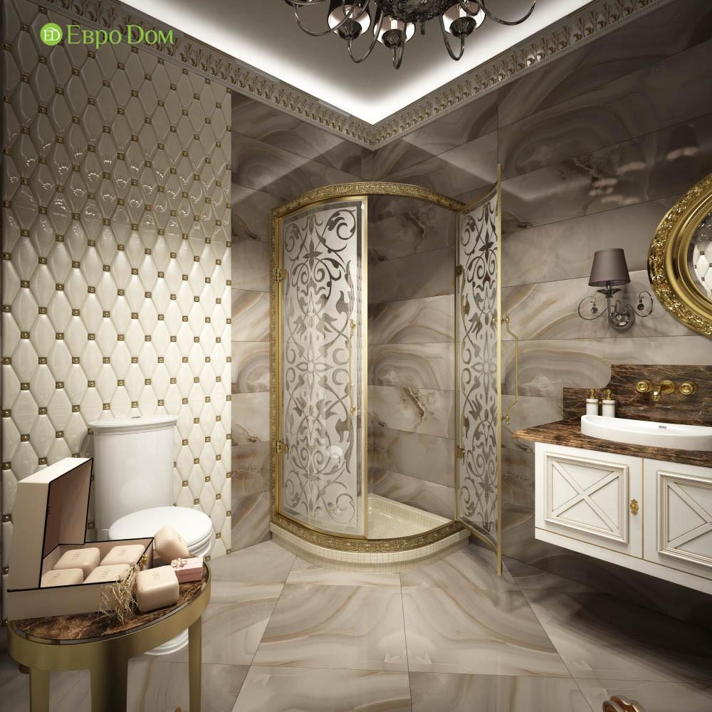 Дизайн частного дома в стиле барокко. Фото душевой