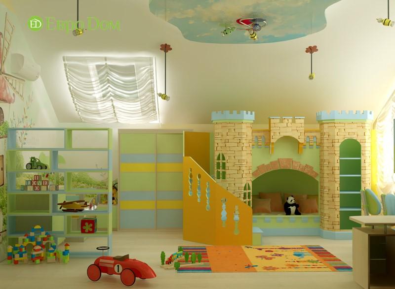Дизайн отделки детской комнаты в частном доме