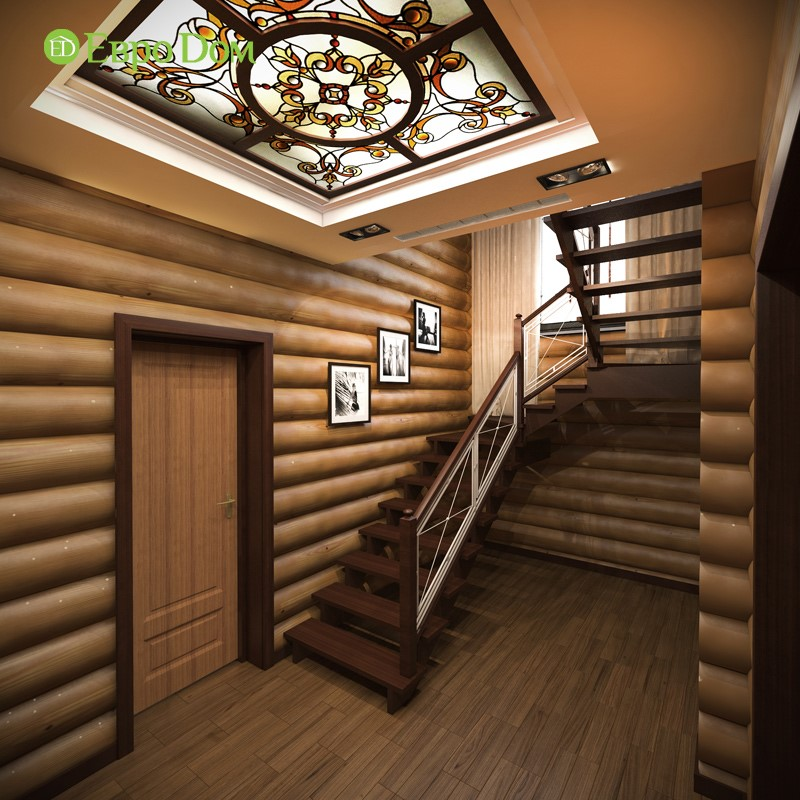 Дизайн внутренней отделки лестничного холла
