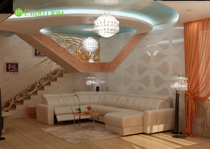 Дизайн для ремонта частного дома в современном стиле. Фото гостиной