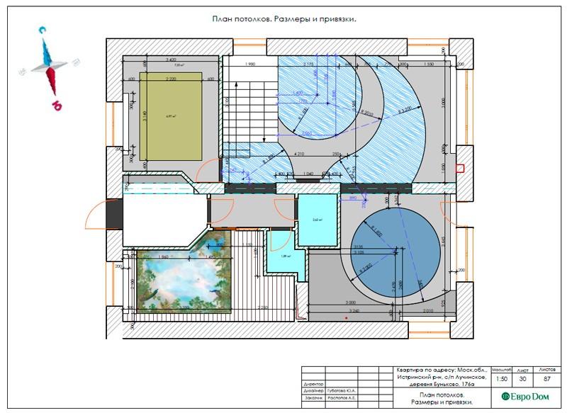 Дизайн-проект для ремонта дома в современном стиле. Планы полов и потолков