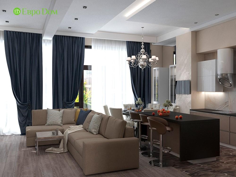 Дизайн коттеджей внутри дома на примере гостиной